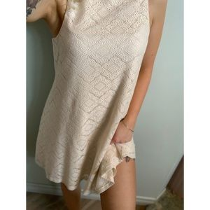 XS, Garage, cream, lace dress with built in slip